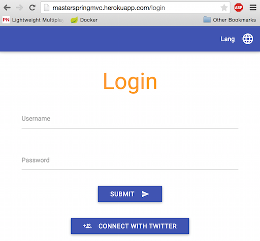 Our login page on Heroku!